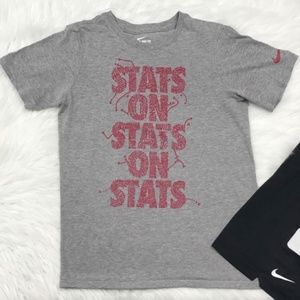 Nike Boys Shirt Large Red and Gray